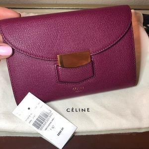 Celine Trotter medium flap multifunction wallet